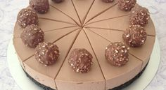 Delicious Nutella Cheesecake With Oreo Base And Ferrero Rochers Nutella Mousse, No Bake Nutella Cheesecake, Tiramisu Cheesecake, Best Cheesecake, Cheesecake Recipes, Dessert Recipes, Chocolate Work, Chocolate Delight, Yummy Treats