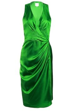 Turquoise and Gold emerald green draped dress : rs. 16,500/- http://www.findable.in/turquoise-gold?=12| Findable.in