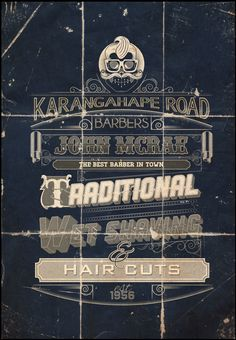 Barber Shop by Tonka Truck, via Behance