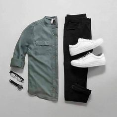 Stylish Mens Outfits, Casual Outfits, Men Casual, Fashion Outfits, Men's Outfits, Fashion Trends, Mode Man, Outfit Grid, Today's Outfit