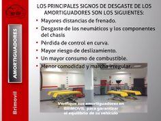 Verifique sus amortiguadores en Brimovil para garantizar el equilibrio de su vehículo: http://www.brimovil.com