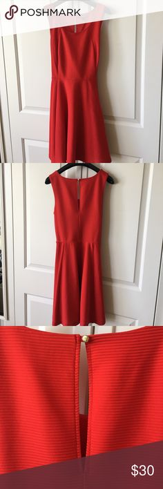 EXPRESS Red Fit&Flare Dress EXPRESS Red Fit&Flare Dress, Size Small Express Dresses Midi