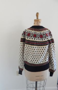 paul mage vintage sweater / norweigan sweater / by RockThatFrock Vintage Sweaters, Beautiful Patterns, Hand Knitting, Christmas Sweaters, Cardigans, Men Sweater, Collection, Fashion, Cupboard