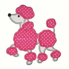 Instant Download Poodle Machine Embroidery Applique Design 5x7 and 6x10. $2.75, via Etsy.