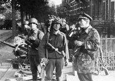 Arnhem, Holland, well-equipped Germans seem unconcerned by the British attack (Market-Garden, Sept. 1944).