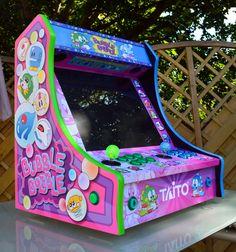 Mini Arcade Machine, Arcade Game Machines, Arcade Games, Vending Machines, Arcade Bartop, Arcade Joystick, Vintage Video Games, Classic Video Games, Diy Arcade Cabinet