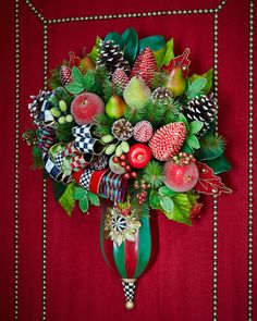 Courtly Christmas Entrance Bouquet by MacKenzie-Childs at Neiman Marcus.