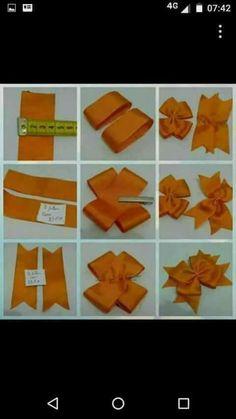 Diy Crafts - Pinwheel bow or clip Diy Ribbon, Ribbon Crafts, Ribbon Bows, Ribbons, Grosgrain Ribbon, Making Hair Bows, Diy Hair Bows, Bow Making Tutorials, Pinwheel Bow