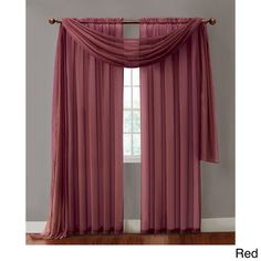 Infinity Sheer Rod Pocket Curtain Panel | Overstock™ Shopping - Great Deals on Sheer Curtains