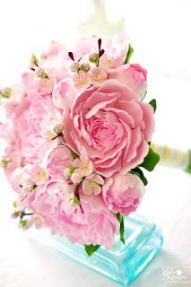 DK Designs: Pink Peony and Cherry Blossom Bouquet