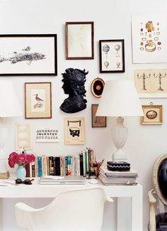 Gallery wall inspiration. Home office