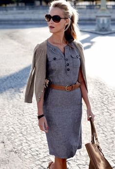 #casual #business chic office dress