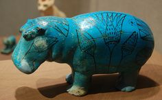 William the blue faience hippo