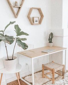home office inspiration 911 Likes, 60 Comments - ↠ Bethany M. Poteet ↠ (Bethany M Poteet) on Instagr Interior Design Photos, Office Interior Design, Home Office Decor, Office Interiors, Home Decor, Office Ideas, Cool Office Space, Decoration Inspiration, White Desk Inspiration