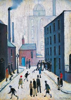 size: Giclee Print: Industrial Scene, 1953 by Laurence Stephen Lowry : This exceptional art print was made using a sophisticated giclée printing process, which deliver pure, rich color and remarkable detail. Spencer, English Artists, Landscape Illustration, Urban Landscape, Stretched Canvas Prints, Types Of Art, Find Art, Giclee Print, Modern Art
