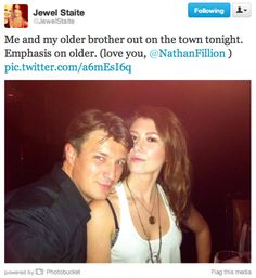 Nathan Fillion and Jewel Staite out on the town. Nathan Fillon, Jewel Staite, Firefly Serenity, Joss Whedon, Buffy The Vampire Slayer, The Villain, Inevitable, Best Shows Ever, So Little Time