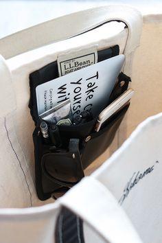 ★キャンドゥ100円!工具バッグをトートバッグのポケットに   インテリアと暮らしのヒント