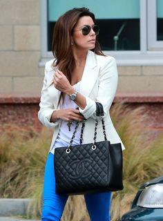 Eva Longoria Runs Errands In Santa Monica Chanel Per Tote Bag