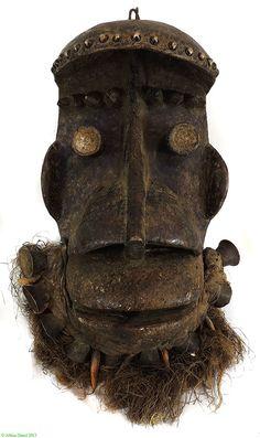 Dan We (Wee) Mask Brass Bells Teeth Liberia African - Dan, Bassa, Kran, Wee - African Masks