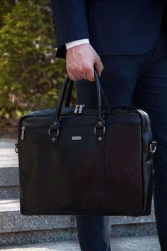 Skórzana męska torba na ramię laptopa Solier SL03 KILBRIDGE