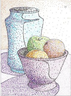 Dotted Drawings, Canvas Art Projects, Stippling Art, Drawing Lessons For Kids, Dot Art Painting, Middle School Art, Elements Of Art, Art Plastique, Art Activities