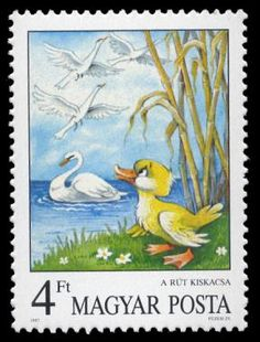 The Ugly Duckling --  Andersen's Fairy Tales on Stamps  --  Hungary—11 December 1987