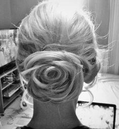 Wedding hairstyle - Rose updo