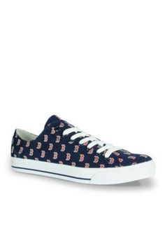 Row One Brands Navy Blue Unisex MLB Boston Red Sox Low Top Shoe