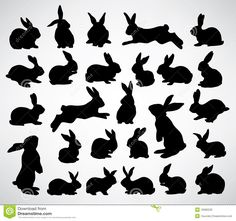 Rabbit Silhouettes - Download From Over 52 Million High Quality Stock Photos, Images, Vectors. Sign up for FREE today. Image: 18380226