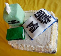 """I love the fact that this cake actually includes """"tissues""""."""