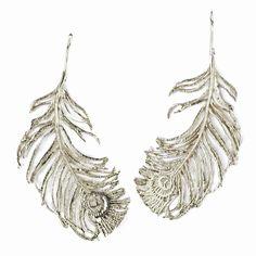 Peacock Feather Hook Earrings