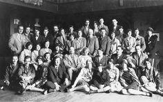 students of the École des beaux-arts de Montréal, circa 1927. Jean Paul Lemieux is seated at the bottom left corner of the photograph