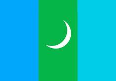 Bayolke Kazakian Turkish Nation Flag(in Mongulia)
