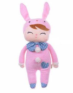 Me Too Angela Smiling Bunny Stuffed Dolls Rabbit Plush Toys Pink 12
