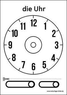 Zifferblatt Vorlage Ausdrucken Uhrzeit Lernen Uhr Lernen Kinder Ausdrucken