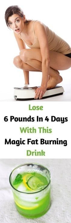 Lose 6 Pounds In 4 Days With This Magic Fat Burning Drink #weightlossrecipes