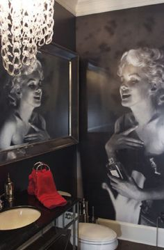 Marilyn mural and all-classic design.