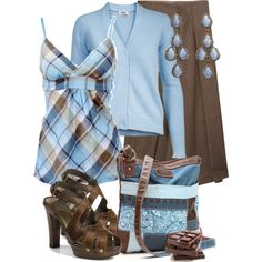 blue sky and chocolate by sagramora on Polyvore