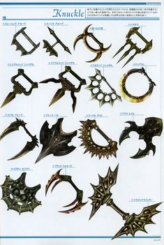 Weapon Concepts — Lineage 2 Concept Art