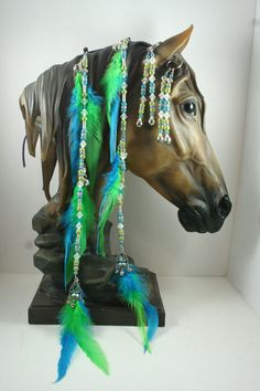 Horse Extentions Beaded Mane Saddle/Bridle Clips by Meadowdancer1, $18.00