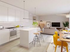 Estepona apartment for sale € 283,000 | Reference: 6517900 3 Bedroom Apartment, Apartments For Sale, Malaga, Contemporary Design, Spain, Live, Places, Interior, Kitchen