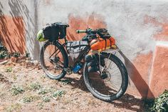 while out riding — Family bikepacking rig: 3 person tent, 2 x. 3 Person Tent, Rando, Mtb Bicycle, Touring Bike, Camping, Bike Life, Cool Bikes, Bike Packing, Motorcycle
