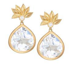 Jamie Wolf Lotus Flower White Topaz & Diamond Earrings (53.070 CZK) ❤ liked on Polyvore featuring jewelry, earrings, diamond earrings, diamond post earrings, earring jewelry, diamond jewelry and diamond jewellery