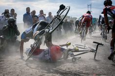 It wouldn't be Paris-Roubaix without crashes. Lots of crashes.