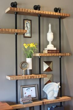Jessie Miller Interior Designer DIY Industrial Built In Shelves