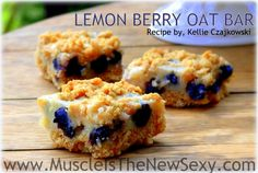 Lemon Berry Oat Bar 08.28 The bomb dignity!! State of slim phase 2...