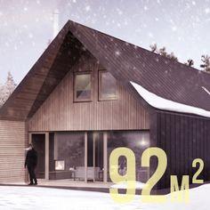 Drewniany dom pasywny o powierzchni 92m2.