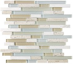 Bliss Spa Stone and Glass Linear Mosaic Tiles