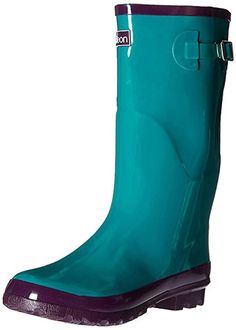 1dba82d0a Wide Calf Wellies - Fit up to 18 inch calf - Glossy Teal Blue - Fleece  Lined *** See this great product.