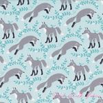 Patty Sloniger Les Amis Socks the Fox Aqua [MM-PS5794-Aqua] - $10.45 : Pink Chalk Fabrics is your online source for modern quilting cottons and sewing patterns., Cloth, Pattern + Tool for Modern Sewists
